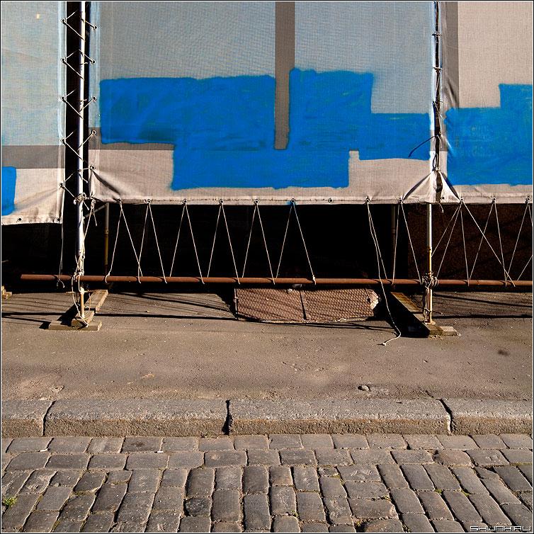 ЛЕГО - синее квадратики прямоуголькини улица элементы брусщатка фото фотосайт