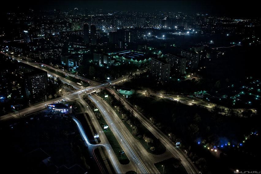 Я летаю в разные края - москва ночь высотка вид дорога мосфильмовская фото фотосайт