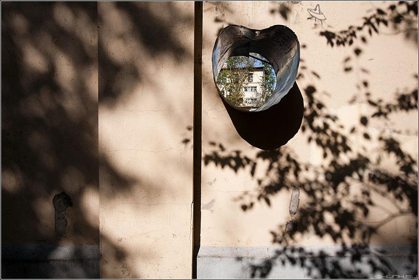 Я люблю тебя, город Москва - элемент сердце труба стена забор дом тени москва фото фотосайт