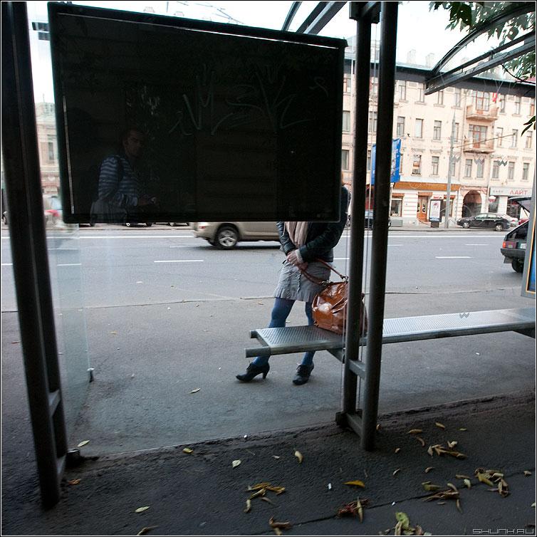 Йа - я отражение черный квадрат девушка остановка квадратное фото фотосайт