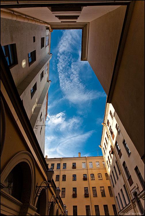 Запрокинув голову как пианист - небо питер санкт-петербург дворы колодец дома архитектура фото фотосайт