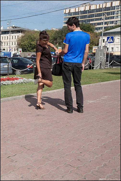 Заминочка - девушка парень улица парочка онона туфелька фото фотосайт