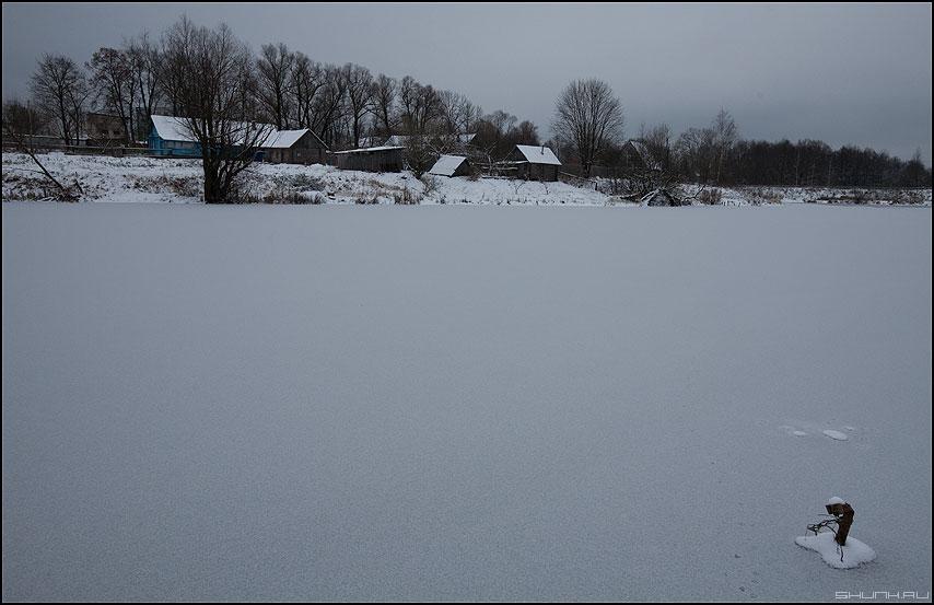 Декабрь ворвался в Шустиково - декабрь 2009 мороз первый лед снег шустиково фото фотосайт