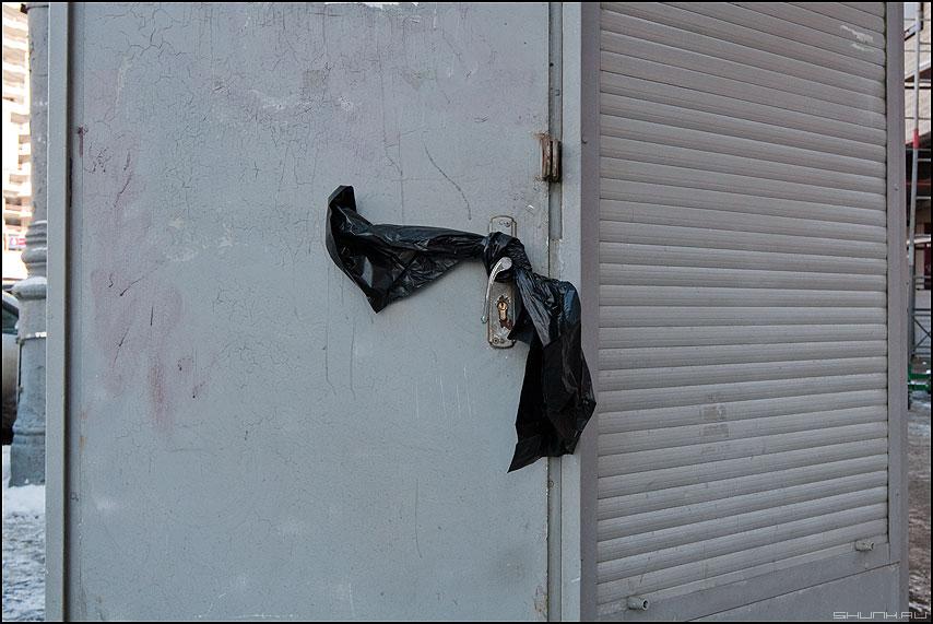 Черный бант - бант уличное дверь палатка ручка фото фотосайт