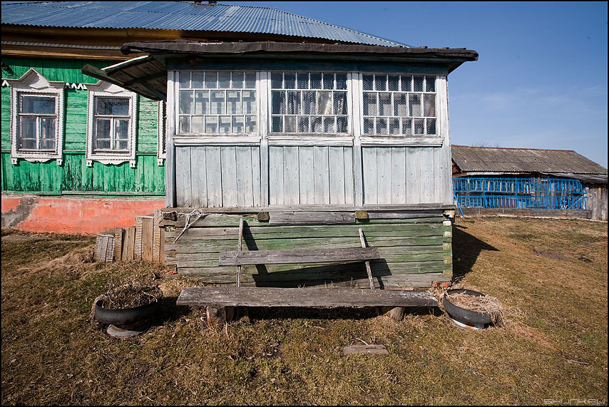 Терраса - терраса деревня лавочка дом ильинское весна фото фотосайт