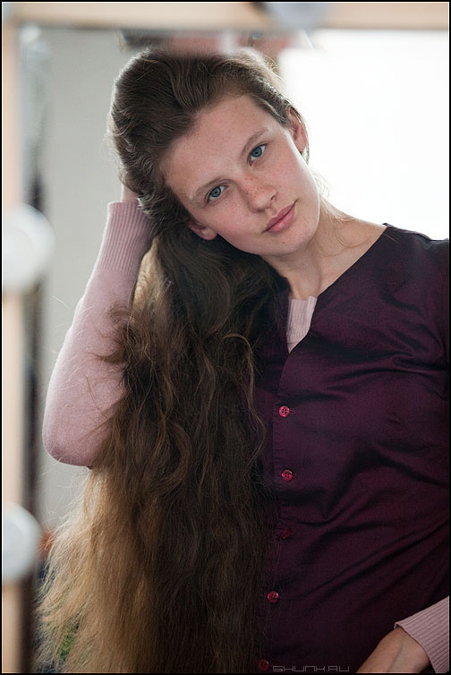 Мария. Взгляд. - маша студия кома портрет зеркало волосы взгляд фото фотосайт