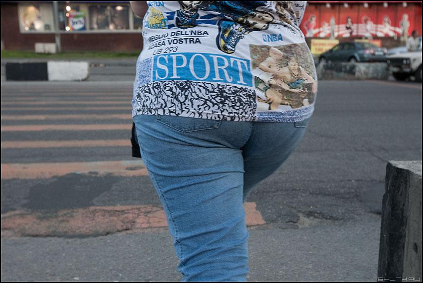 Спорт в массы - спорт надпись задница футболка курьез фото фотосайт