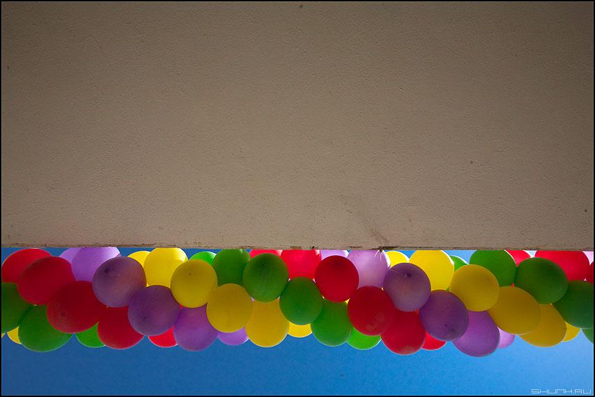Шарики - шарики небо вверх стена потолок ддт фото фотосайт