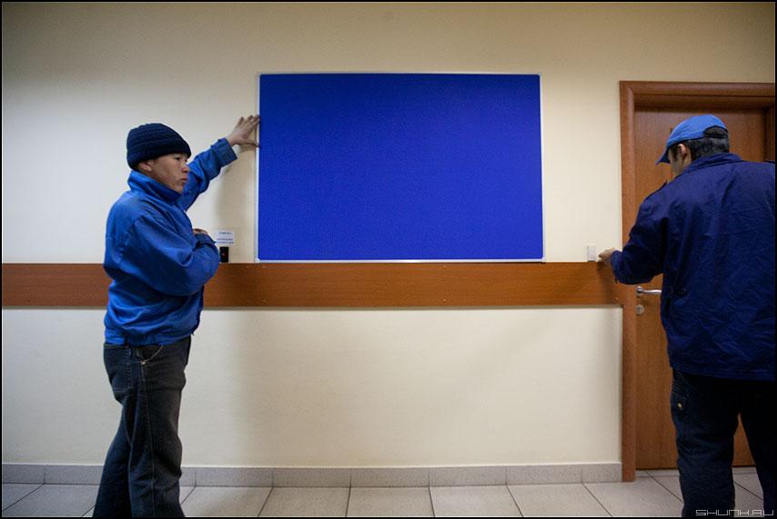 Мы снова собрались у голубых экранов - экран работа офисное люди профессия монтаж фото фотосайт