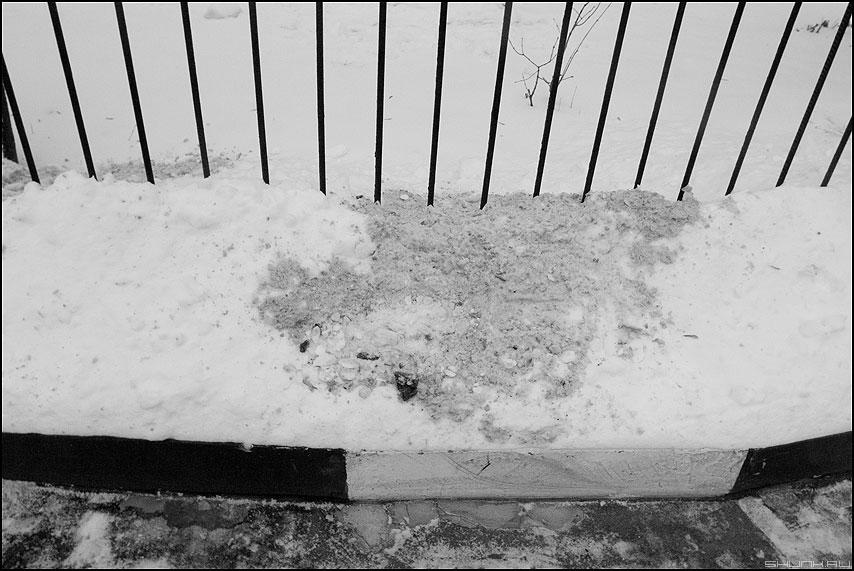 Монохромный этюд - этюд монохром забор паребрик фото фотосайт