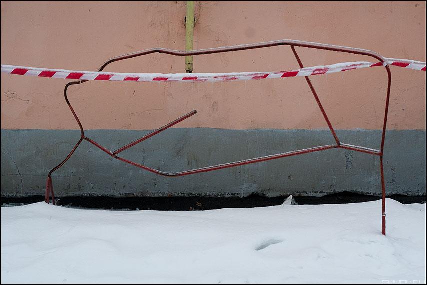 Ломаная - линии ломаная элементы уличное ограда ленточка фото фотосайт