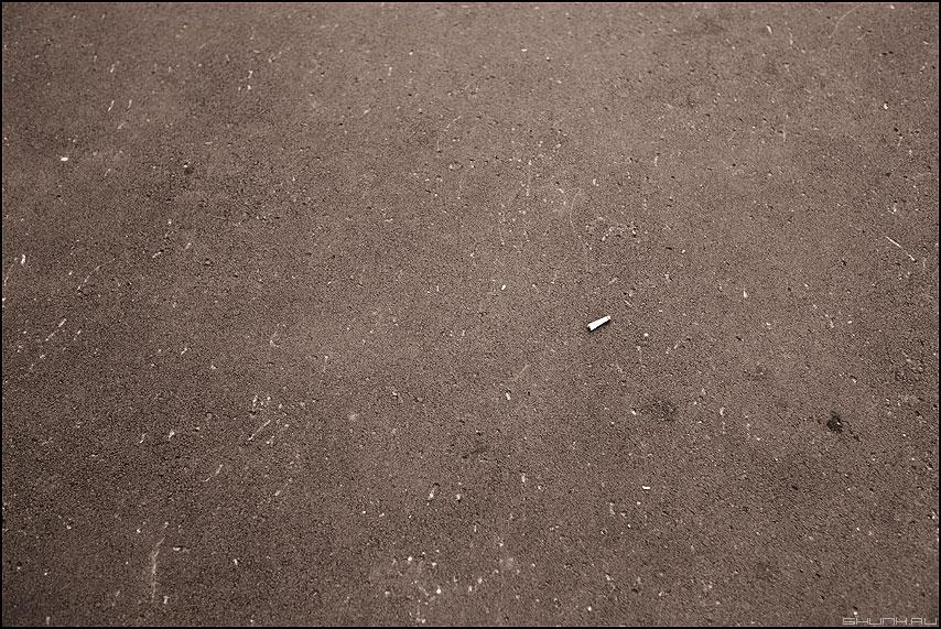 Окурок - асфальт окурок следы уличное элемент фото фотосайт