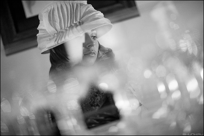 Портрет с бликами - портрет чб саша свадьба шляпка фото фотосайт
