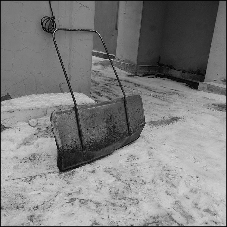 Скребок - лопата снег элементы квадратное уличное фото фотосайт
