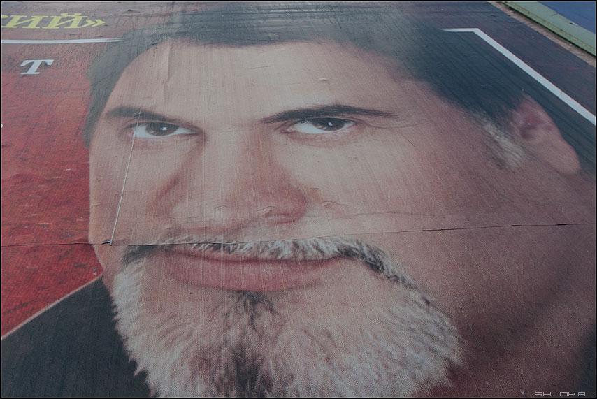 Добрый бородач - бородач реклама взгляд стенд миладзе фото фотосайт