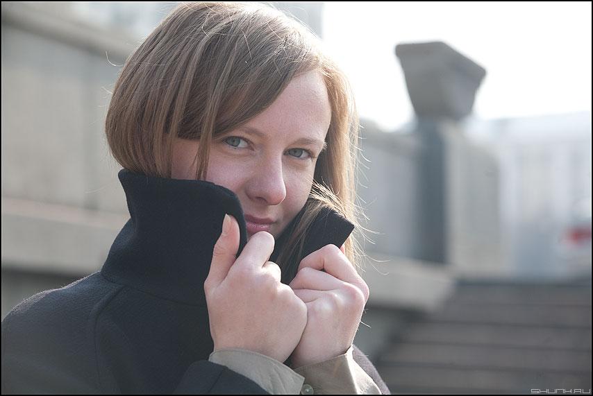 Марток - надя набережная пальто портрет уличное фото фотосайт