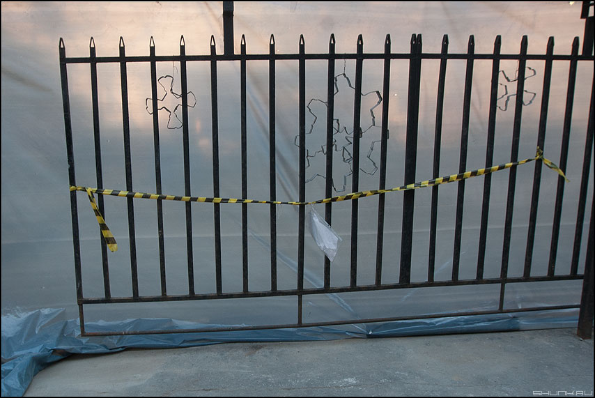 Ре-шка - решетка ленточка уличное полиэтилен элементы фото фотосайт
