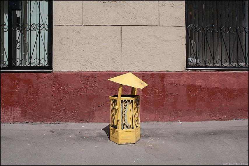 Урно - элементы улицо желтая урна фото фотосайт