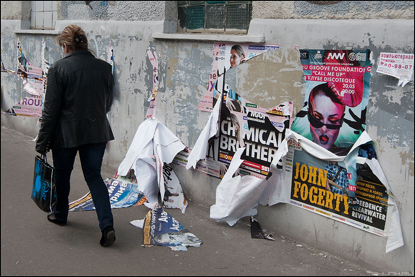 Срыв - уличное женщина реклама плакаты срывать фото фотосайт