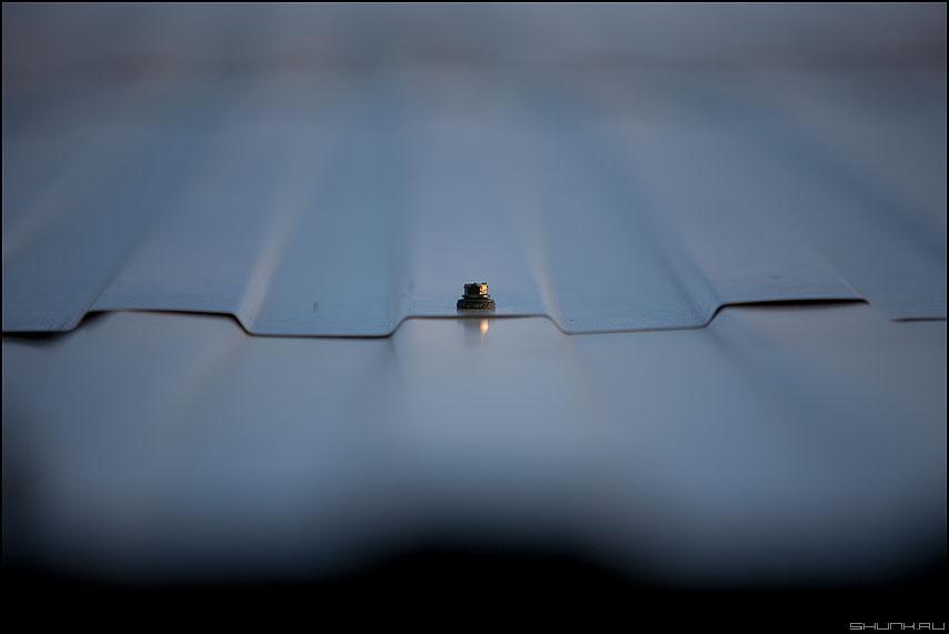 Мир шурупа - шуруп крыша дачное макро фото фотосайт