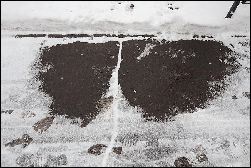 Про талина - асфальт снег проталина жопа фото фотосайт