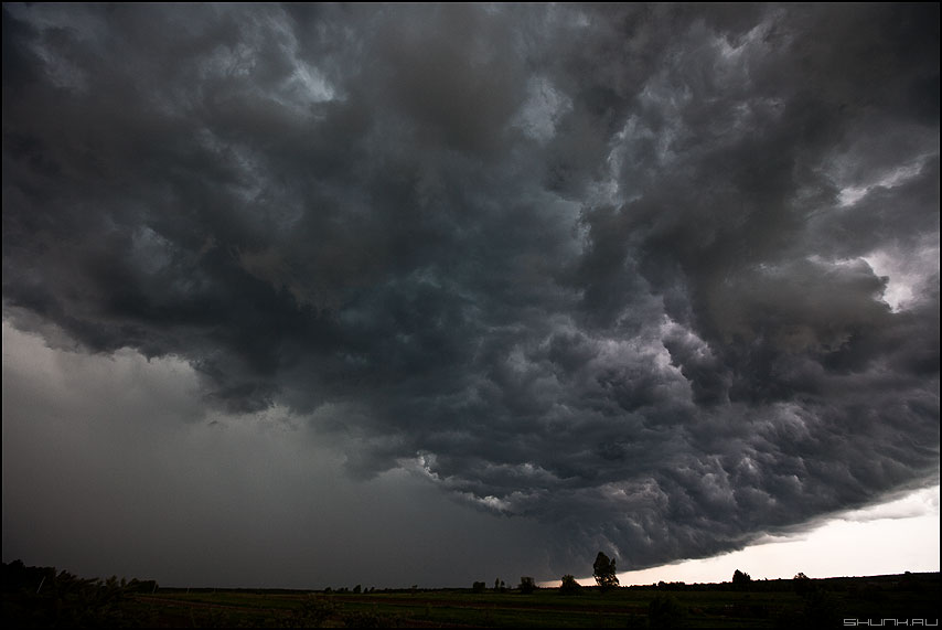 Девятый вал - небо деревня туча облака гроза фото фотосайт