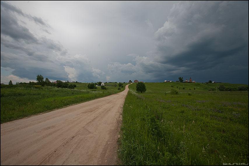 Дорога в деревню - дорога деревня небо трава лето фото фотосайт