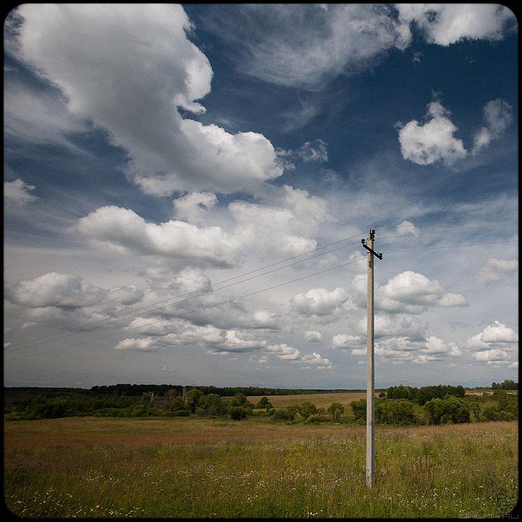 Застолбить - небо столб квадратное обработка деревня фото фотосайт