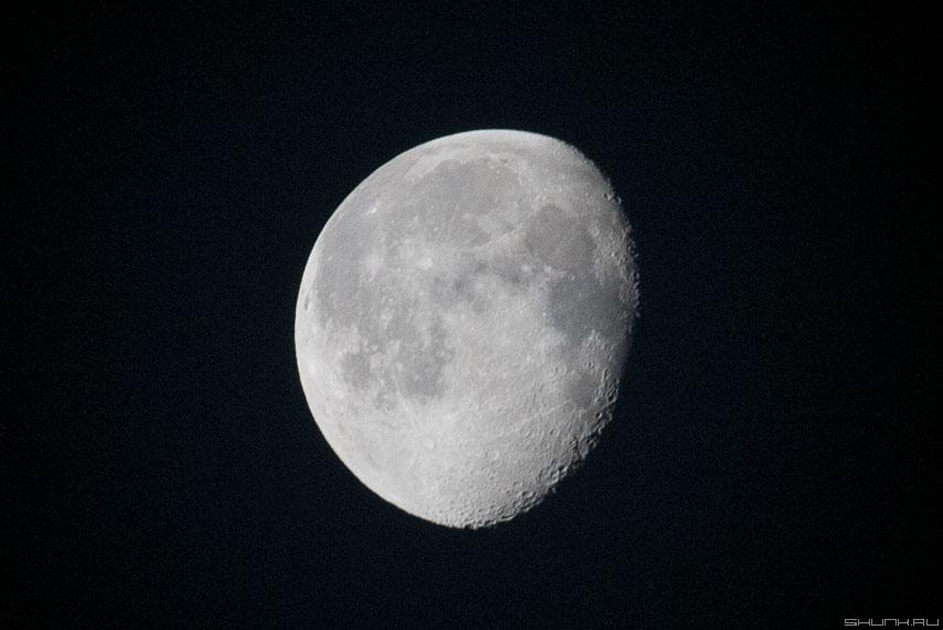 Одинокая Луна - луна небо телевик фото фотосайт