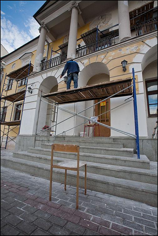 Стул - стул леса ремонт профессия рабочий маляр фото фотосайт