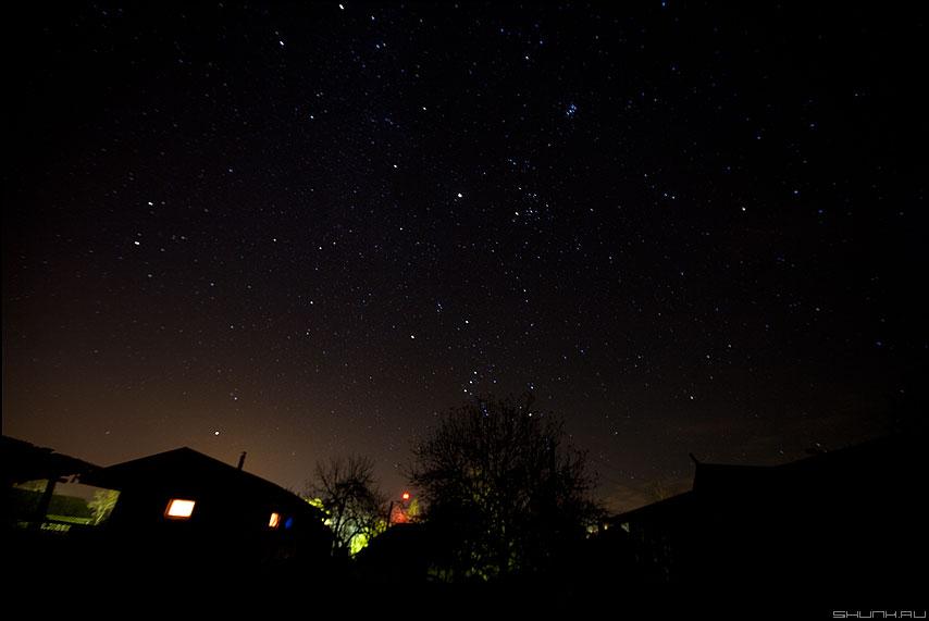 Звездное небо над Шустиково - небо звезды юпитер шустиково огни октябрь фото фотосайт