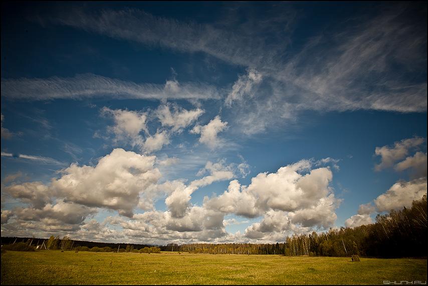 Н.Е.Б.О. - небесные дела небо поле деревня моя обработка фото фотосайт