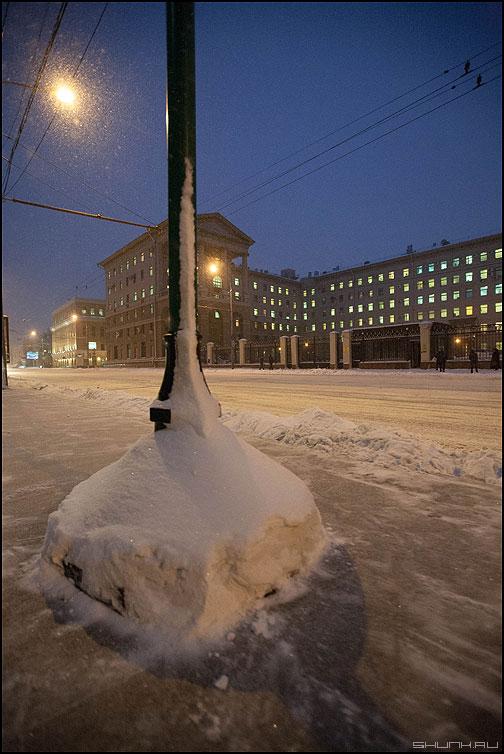 Петровка - зима снег петровка онги фонарь фото фотосайт