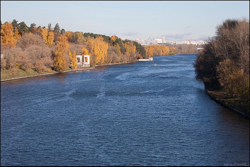 Осень в Серебрянном Бору - сербор бор серебрянный осень листва москва река речка катер фото фотосайт