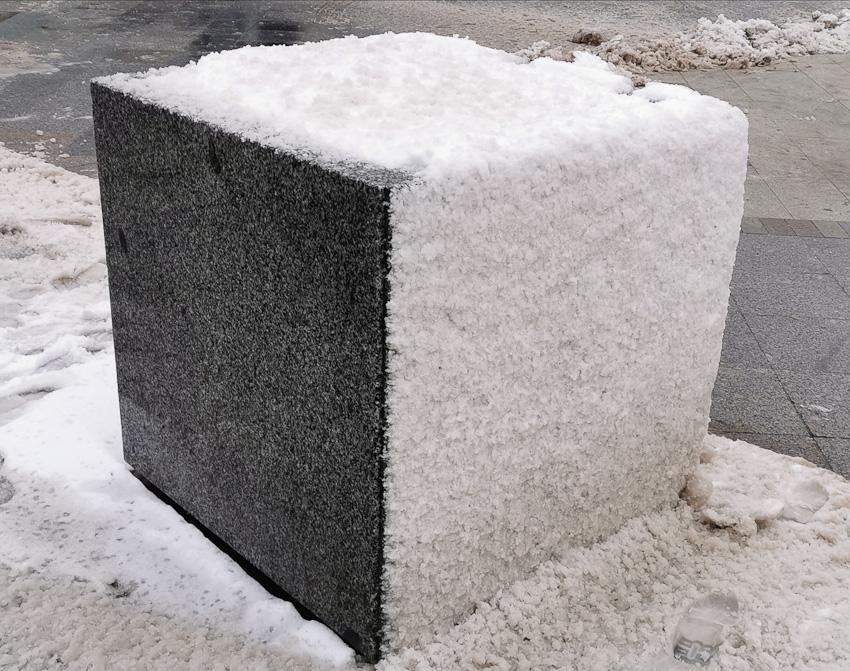 КУБ - куб снег зима 2020 фото фотосайт