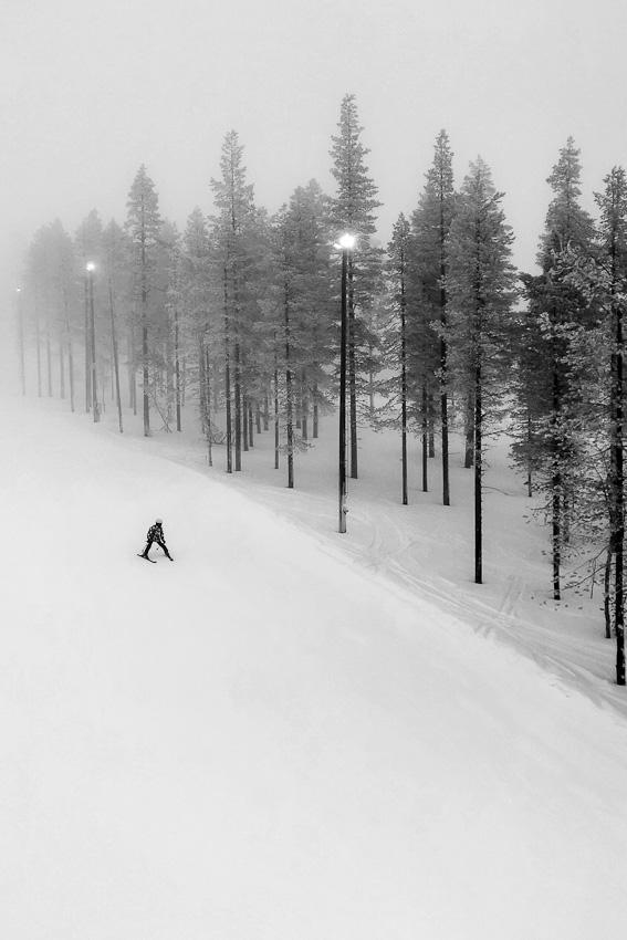 Катиться - горнолыжное леви зима 2020 кататься горные лыжи лес зимнее
