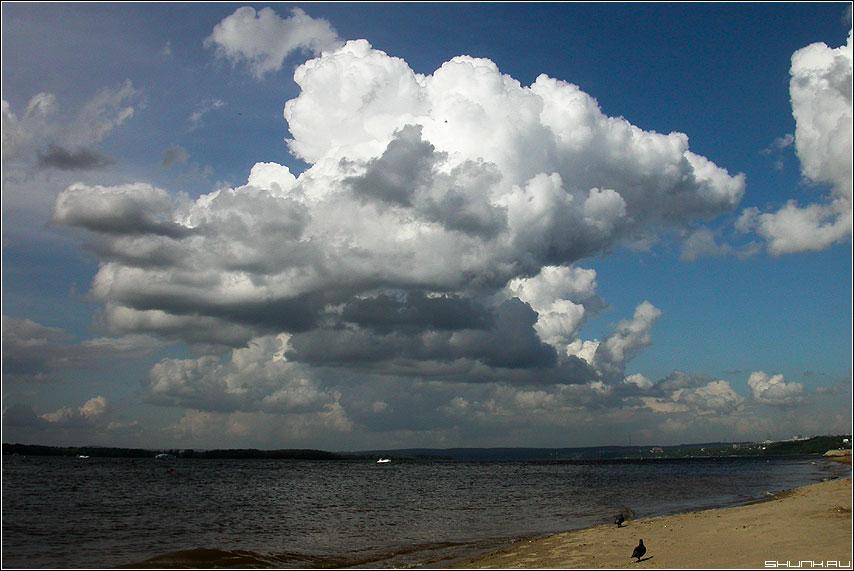 Небо над волгой - небо волга река тучи облака фото фотосайт