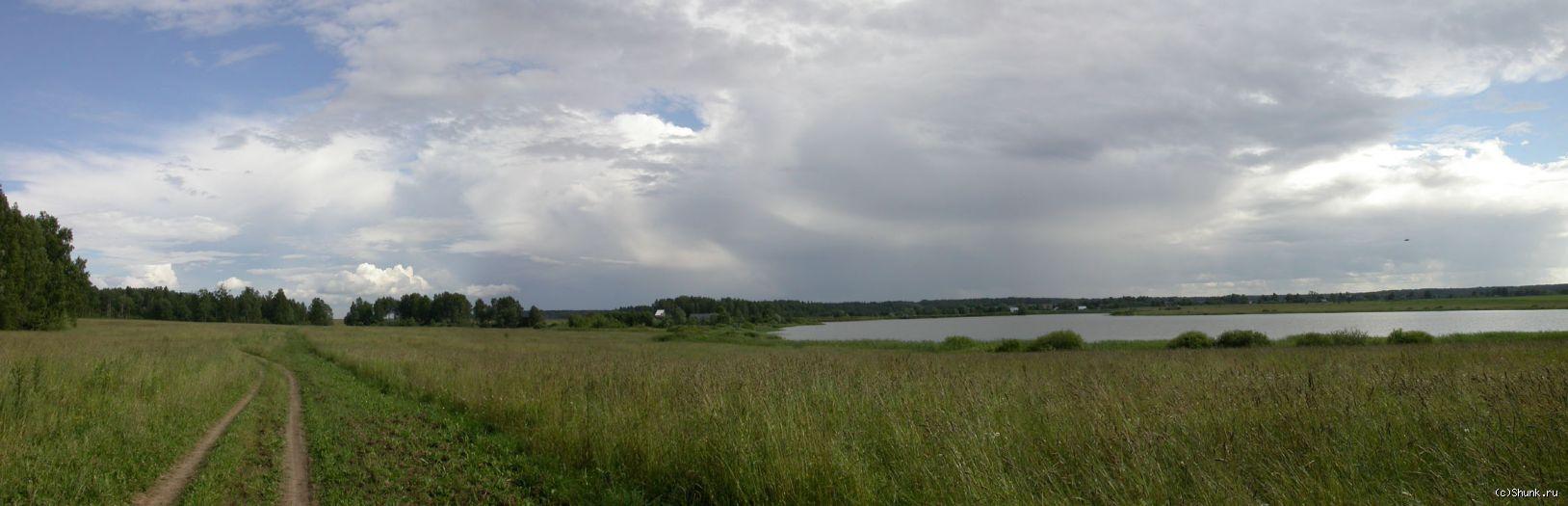 РыбХоз. Панорама. - панорама лето река травка фото фотосайт