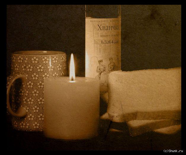 Из кружки - кружка вино свеча фото фотосайт