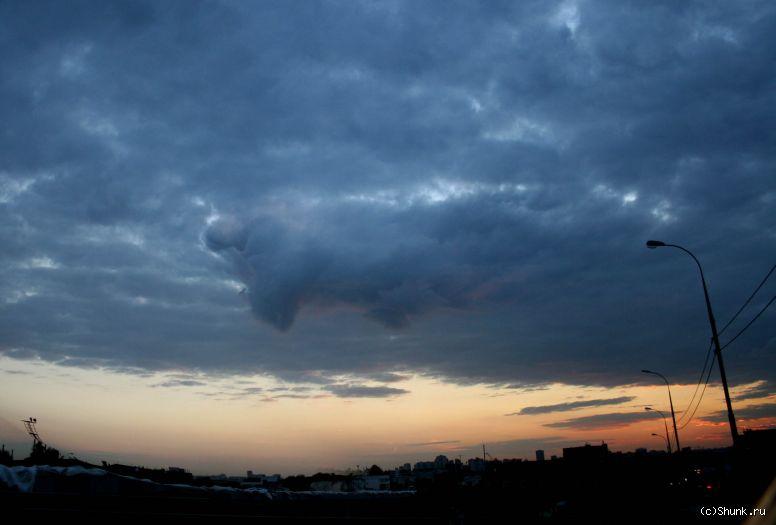 Прорвало - небо тучи город фото фотосайт