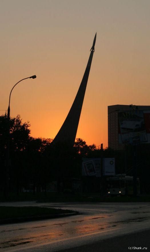 Взлет - стрела вднх гагарин восход фото фотосайт