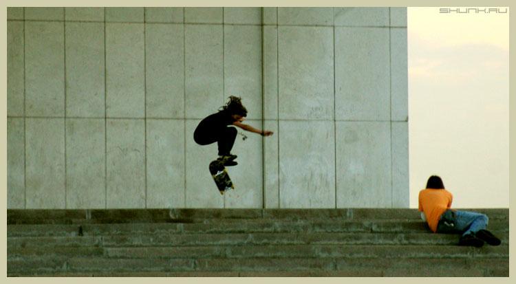Зарисовка - скейборд ступеньки поклонная гора фото фотосайт