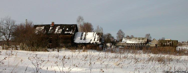 Не придет! - зима домики снег деревня фото фотосайт