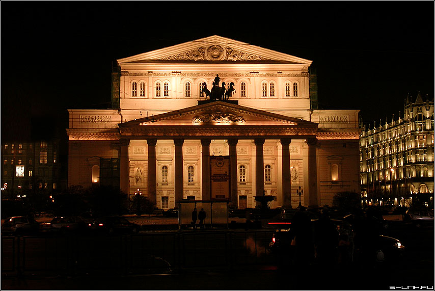 Большой - большой театр вечер москва огни фото фотосайт