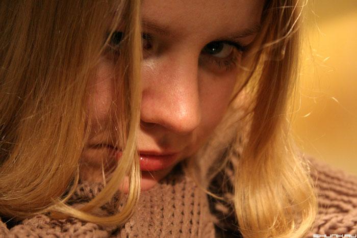 Портрет - девушка взгляд портрет фото фотосайт