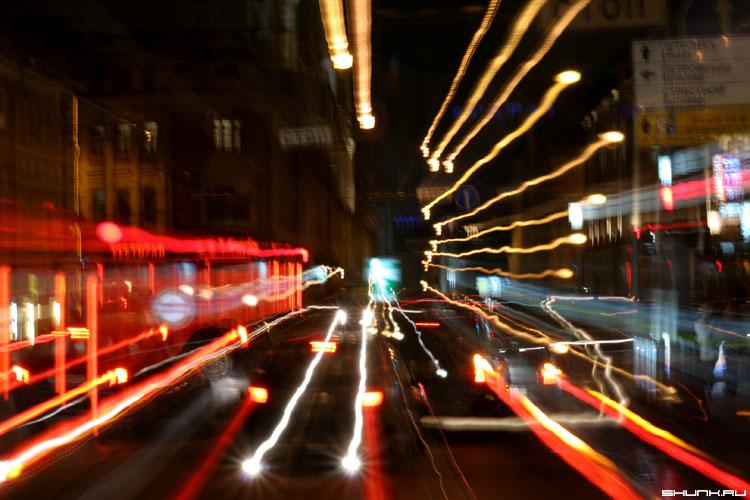 Ночная живопись - огни смаз москва ночная фото фотосайт