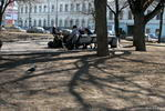 Тени в парке - бомжи тени парк весна