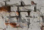 Стена храма - кирпичи крупно макро