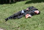 Я на солнышке ляжу - бомж на траве