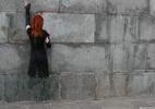 Графити - девушка стена платье фотошоп